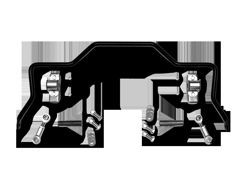 Part #8098 Rear Sway Bar Kit (1932-48 Ford Black Powder Coated)